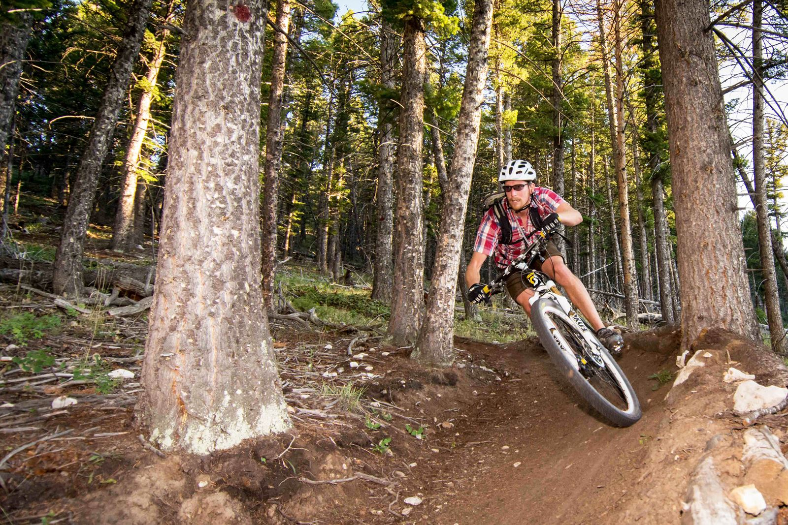 Lander for photographers: Mountain biker in Sinks Canyon