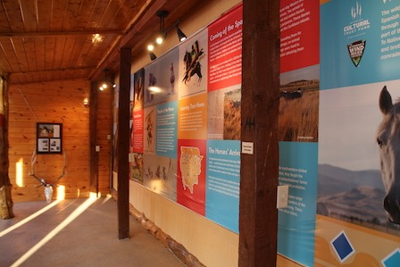 The Wind River Wild Horse Sanctuary is a unique Wyoming museum. Interpretive displays shown here.