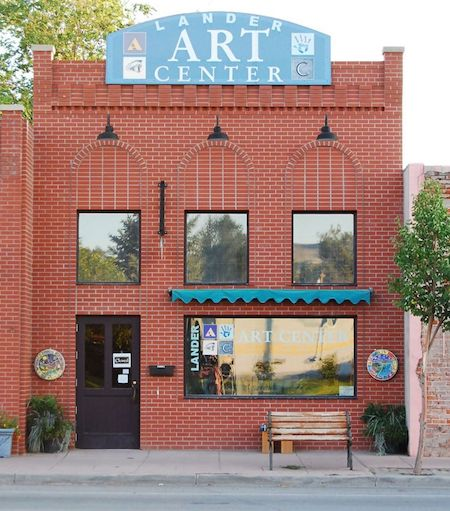 Front of Lander Art Center building in Lander, Wyoming