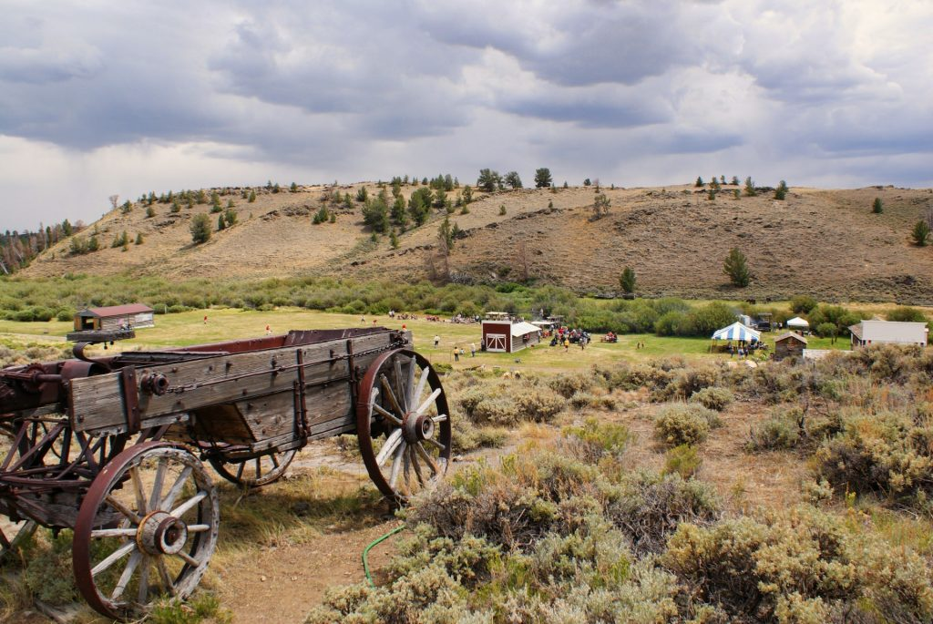 Wagon outside of South Pass City, a historical destination near Lander, wyomig